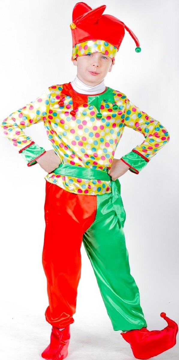 Карнавалия Карнавальный костюм для мальчика Петрушка размер 11085226Яркий детский карнавальный костюм Карнавалия Петрушка позволит вашему ребенку быть самым интересным героем на детском утреннике, бале-маскараде или карнавале. В комплект входят рубашка, брюки, ботинки, колпак. Рост ребенка: 110 см. Материал: 100% полиэстер. В этом костюме мальчик почувствует себя настоящим сказочным героем. Костюм привлечет внимание друзей вашего ребенка и подчеркнет его индивидуальность. Веселое настроение и масса положительных эмоций будут обеспечены!
