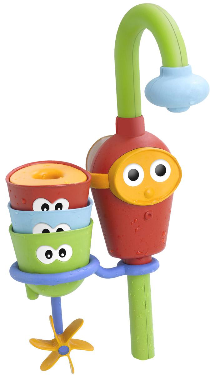 Yookidoo Игровой набор для ванной Волшебный кран40116Игровой набор Волшебный кран предназначен для веселых игр во время купания. В набор входит яркий кран с глазками и три разноцветные формочки. Кран крепится к гладкой поверхности при помощи присосок таким образом, чтобы блок с насосом оказался в воде. Чтобы из крана полилась вода, нажмите на маску. Кран имеет специальный держатель для формочек. Вставляйте формочки в держатель и начинайте играть! Голубая формочка имеет отверстия для создания струек, красная формочка имеет пропеллер, который начинает вращаться при попадании в нее воды, а внутри зеленой формочки находится поплавок, который всплывает при ее наполнении водой. Малыш может вставлять в держатель по одной формочке или сложить их вместе. Этот яркий интересный набор превратит купание в увлекательную игру! Набор способствует развитию координации движений, ловкости, концентрации внимания, памяти, пространственного мышления, воображения. Для детей в возрасте: от 6 месяцев до 3 лет. Необходимо...