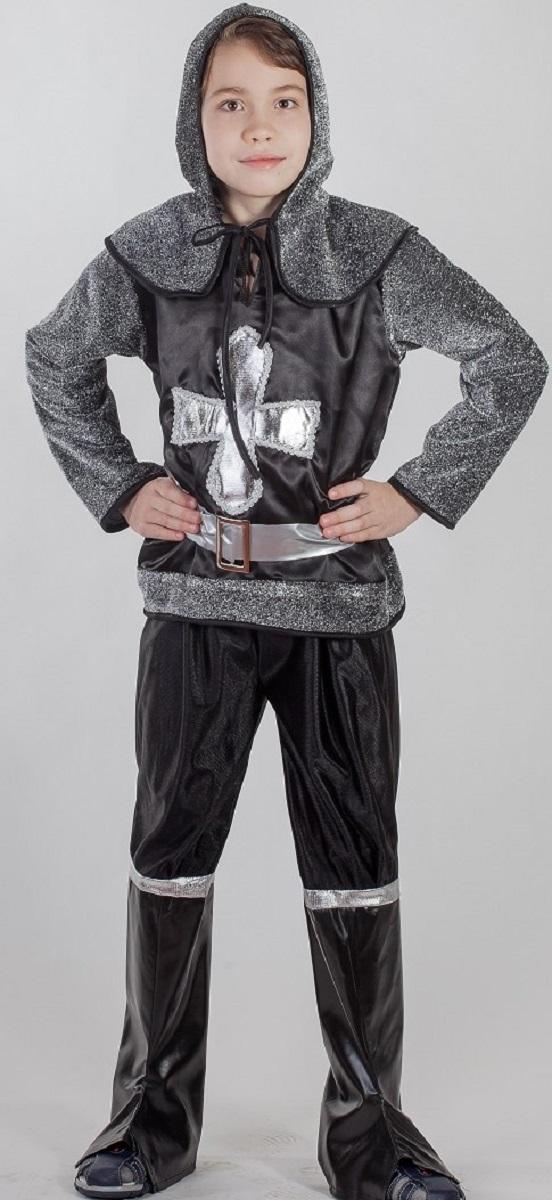 Карнавалия Карнавальный костюм для мальчика Рыцарь размер 13485041Яркий детский карнавальный костюм Карнавалия Рыцарь позволит вашему ребенку быть самым интересным героем на детском утреннике, бале-маскараде или карнавале. В комплект входят рубашка с капюшоном, штаны, сапоги, ремень. Рост ребенка: 134 см. Материал: 100% полиэстер. В этом костюме мальчик почувствует себя настоящим рыцарем. Костюм привлечет внимание друзей вашего ребенка и подчеркнет его индивидуальность. Веселое настроение и масса положительных эмоций будут обеспечены!