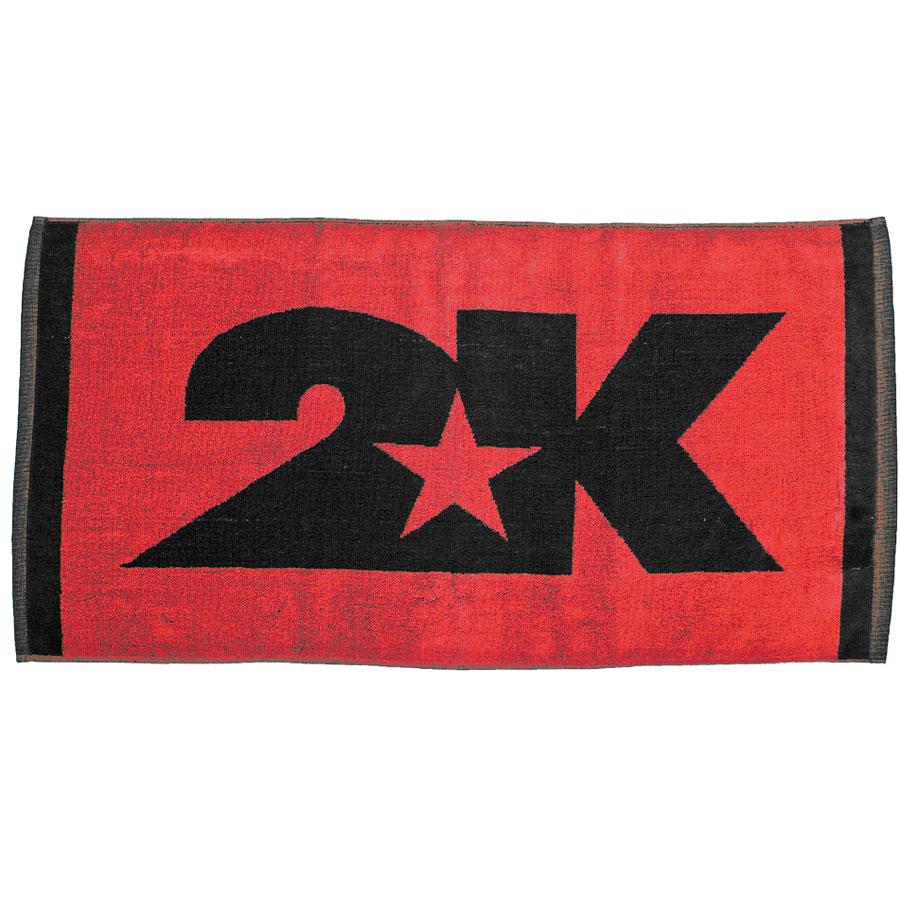 Полотенце 2K Sport Bari, цвет: красный, черный, 40х80 см. 115804