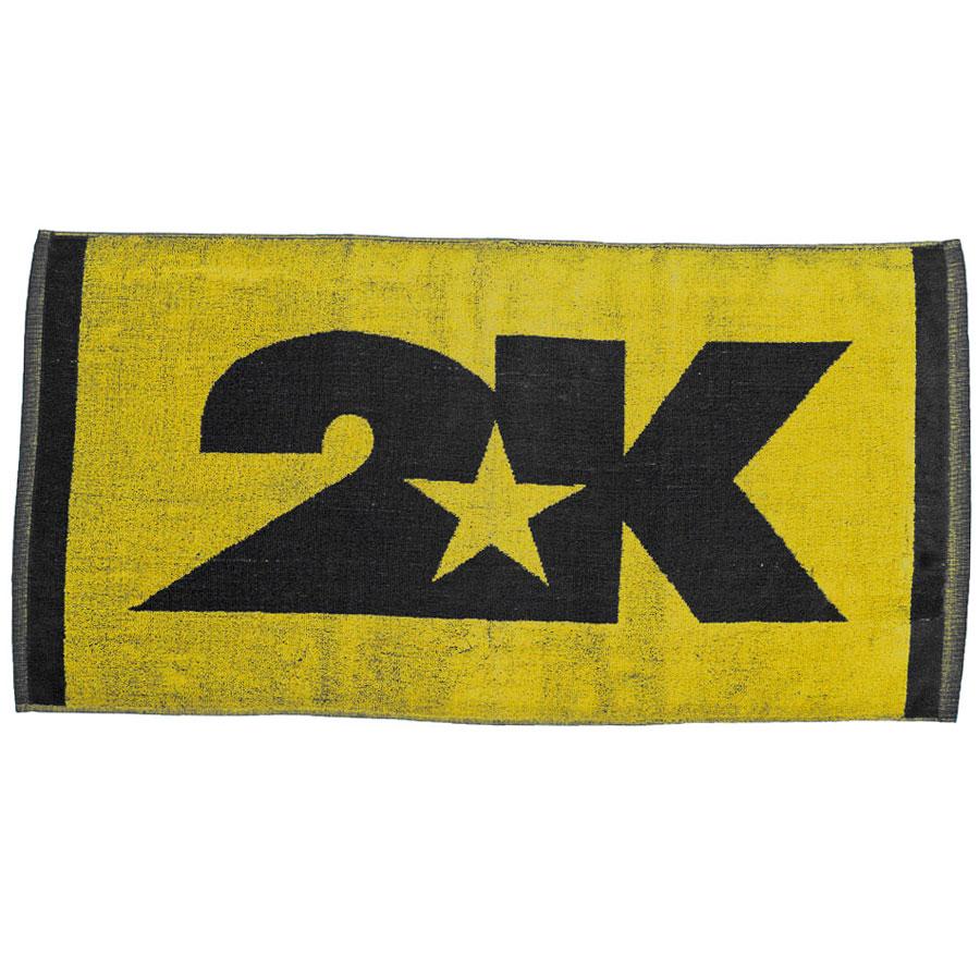 Полотенце 2K Sport Bari, цвет: желтый, черный, 40х80 см. 115804