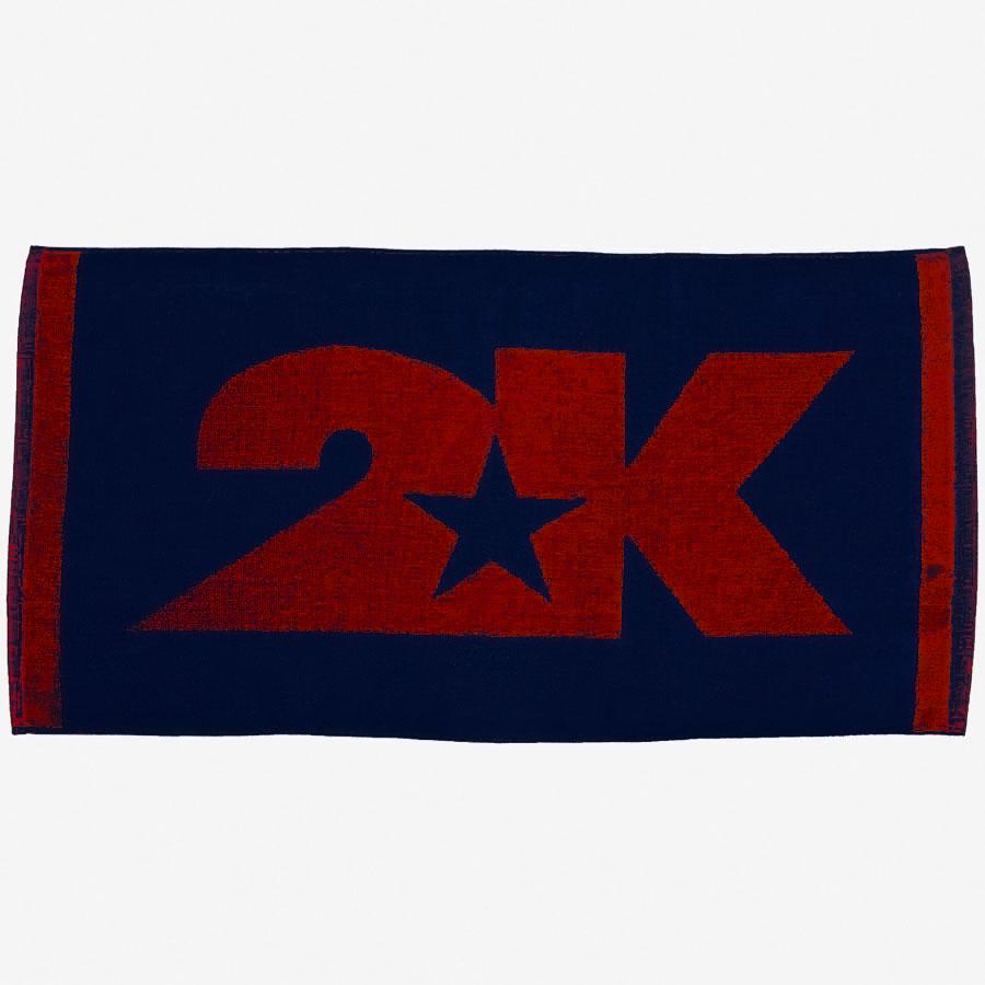 Полотенце 2K Sport Lucca, цвет: темно-синий, красный, 40х80 см. 115806