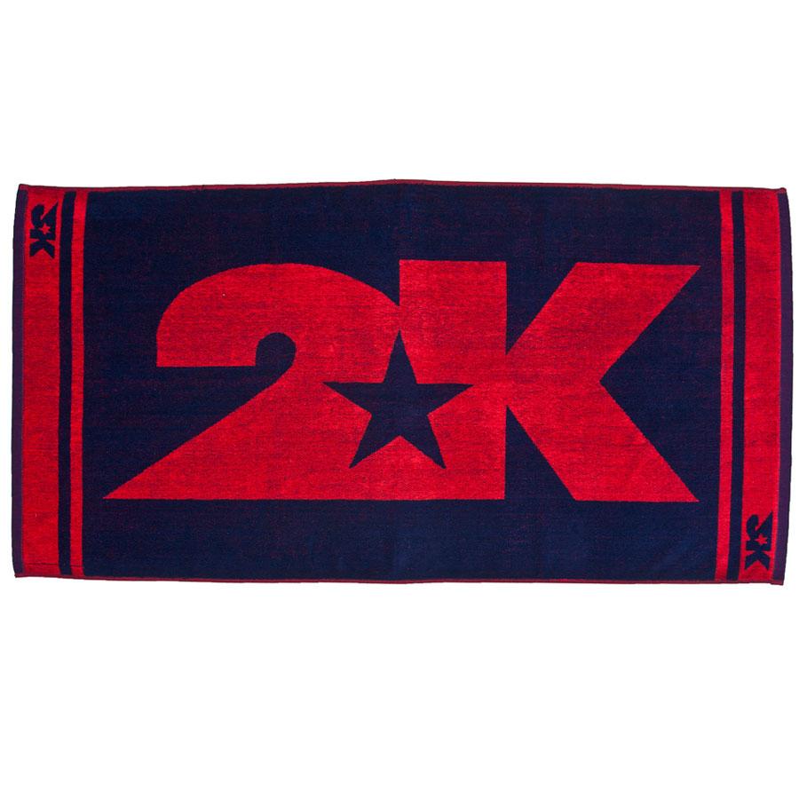 Полотенце 2K Sport Barri, цвет: темно-синий, красный, 60х120 см. 115904