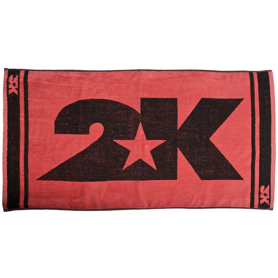 Полотенце 2K Sport Barri, цвет: красный, черный, 60х120 см. 115904