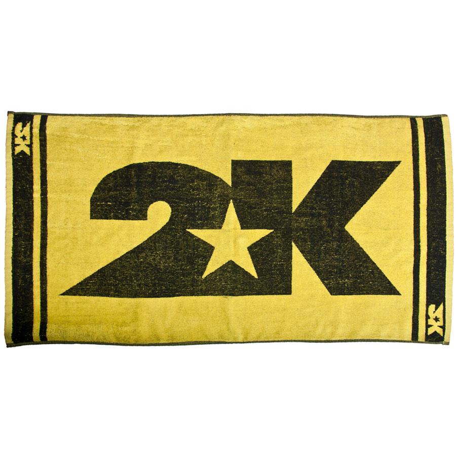 Полотенце 2K Sport Barri, цвет: желтый, черный, 60х120 см. 115904