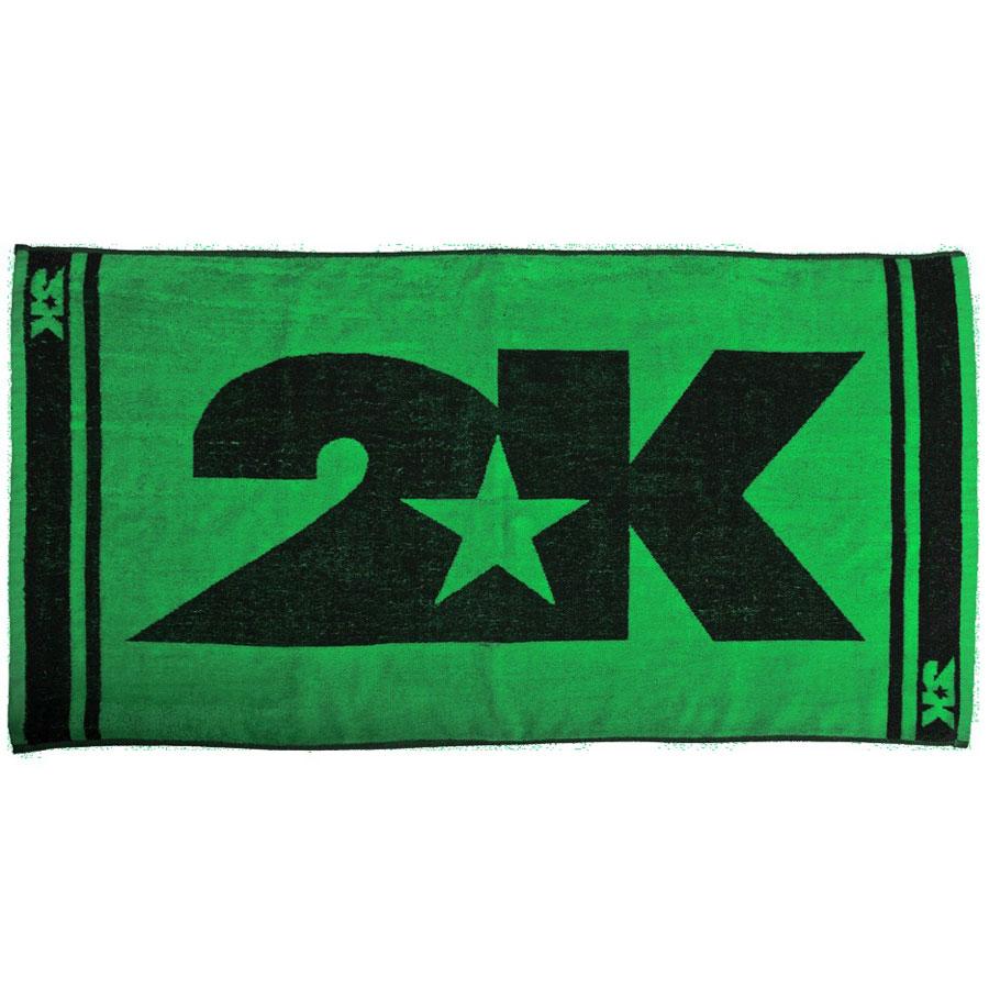 Полотенце 2K Sport Lucca, цвет: зеленый, черный, 60х120 см. 115906