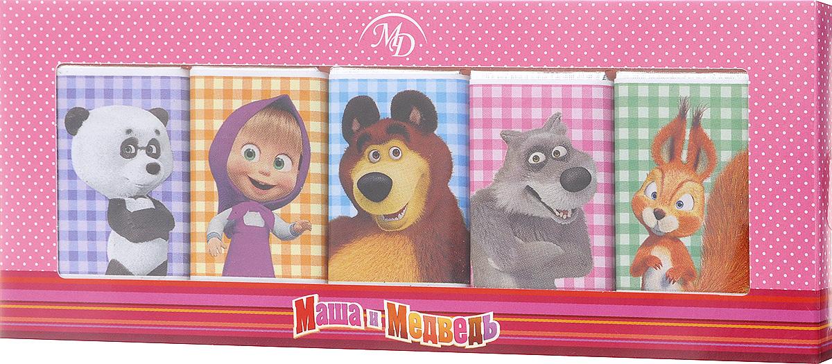 Монетный двор Маша и Медведь набор молочного шоколада, 60 г (розовая упаковка)