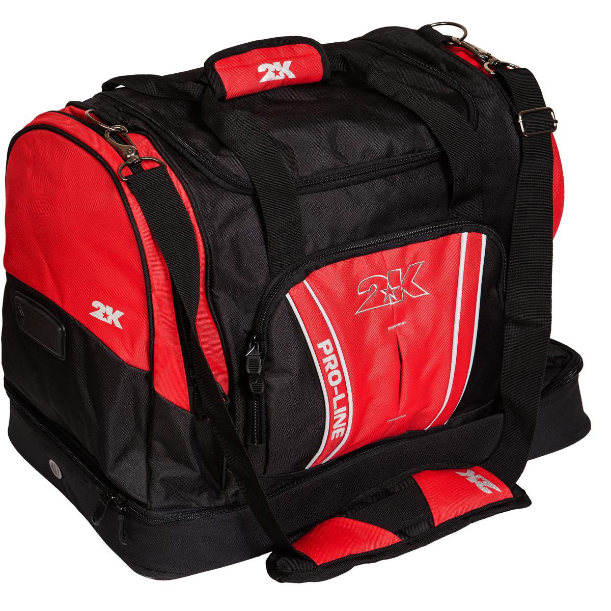 Сумка спортивная 2K Sport Tampa, цвет: черный, красный. 128124128124-black-redСпортивная сумка с двойным дном для обуви 2K Sport Tampa. Можно переносить в руке и на плече. Размер: 50х30х43 см. (ДхШхВ). Отстегивающийся ремень.