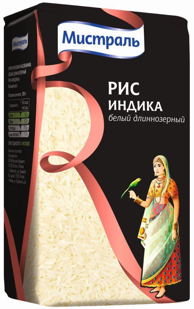 Мистраль Рис Индика, 450 г10120Благодаря красивой форме зерен и мягкому вкусу Индика является наиболее популярным в мире сортом длиннозерного риса и используется для приготовления всевозможных блюд.