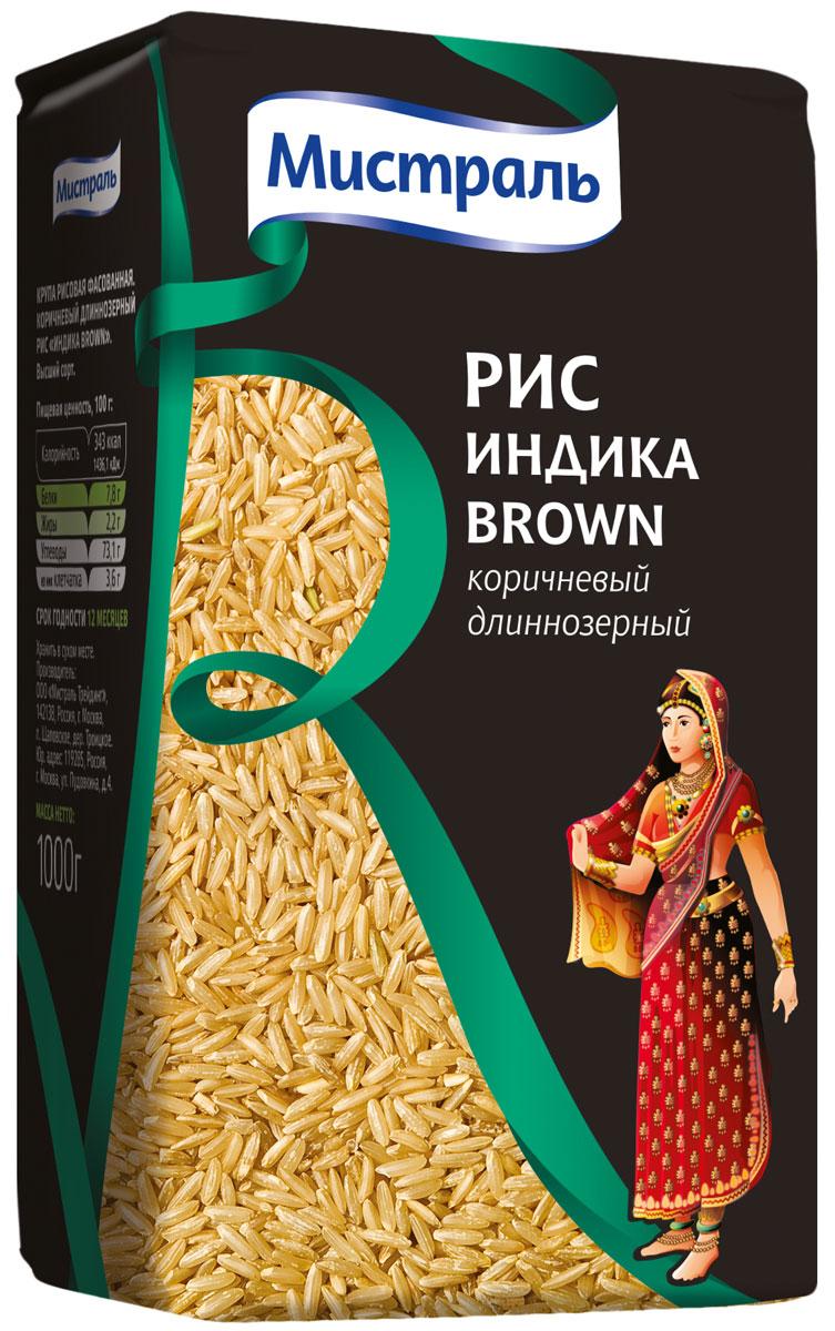 Мистраль Рис Индика Brown, 1 кг14003Индика Brown - это рис Индика, подвергнутый бережной шлифовке, которая сохраняет оболочку и зародыш зерна, а также все питательные вещества и витамины. Отрубевая оболочка защищает зерна от чрезмерного разваривания и придает им характерный коричневатый оттенок и ореховый привкус. 1. Засыпьте рис в кастрюлю с водой в соотношении 1:2,5 2. Доведите до кипения, убавьте огонь и плотно закройте крышкой 3. Варите на медленном огне 25-35 минут, пока рис не впитает в себя всю воду