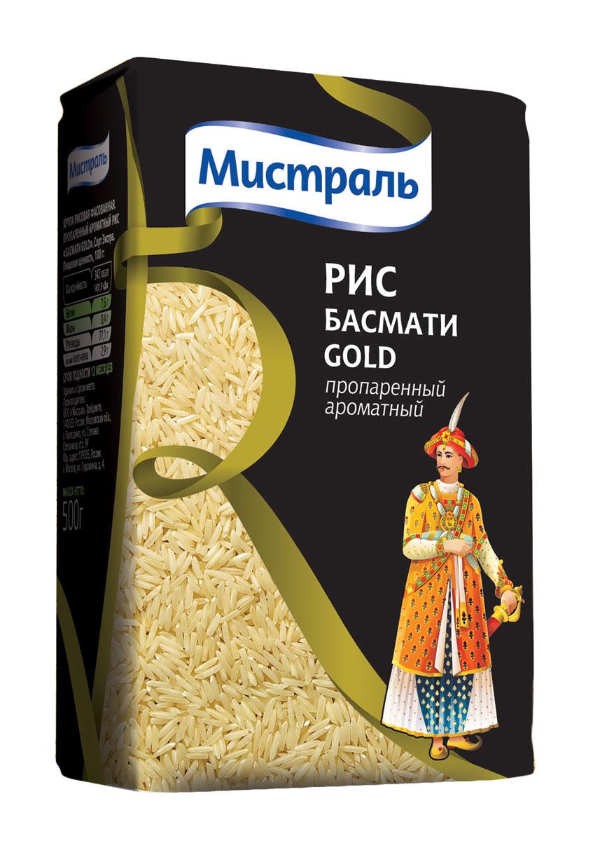 Мистраль Рис Басмати Gold, 500 г15004Крупа рисовая фасованная. Пропаренный ароматный рис Басмати Gold В результате процедуры пропаривания перед шлифовкой, которая помогает сохранить витамины и полезные вещества, зерна этого риса имеют необычный янтарный цвет. В процессе варки они становятся белоснежными и никогда не слипаются. 1. Засыпьте рис в кастрюлю с водой в соотношении 1:2 2. Доведите до кипения, убавьте огонь и плотно закройте крышкой 3. Варите на медленном огне 25 минут, пока рис не впитает в себя всю воду