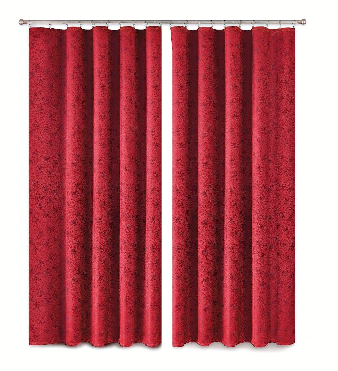 Комплект штор P Primavera Firany, цвет: бордовый, высота 280 см. 11100031110003Комплект штор из полиэстровой жаккардовой ткани с пришитой шторной лентой. Размер - ширина 180 см высота 280см. Набор 2 штуки. Цвет бордо. Размер: ширина 180 х высота 280