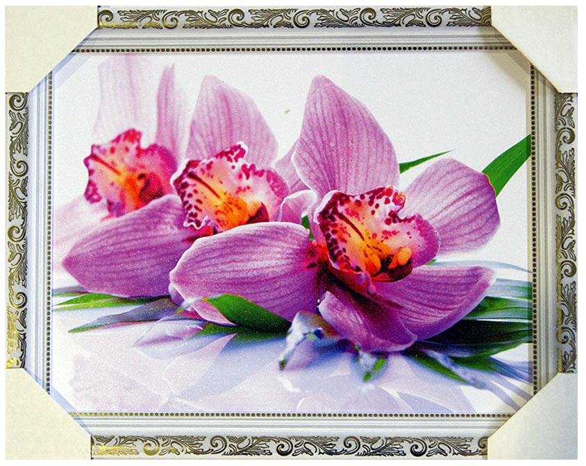 Картина в раме Proffi Home Розовая орхидея, 30 х 40 смВ1153Картина Proffi Home поможет украсить интерьер. Картина оформлена в красивую деревянную рамку белого цвета с золотым декором. Фотопечать на бумажном постере с тиснением. Металлические петли, винты для подвешивания картины в комплекте. Размер картины: 30 х 40 см.