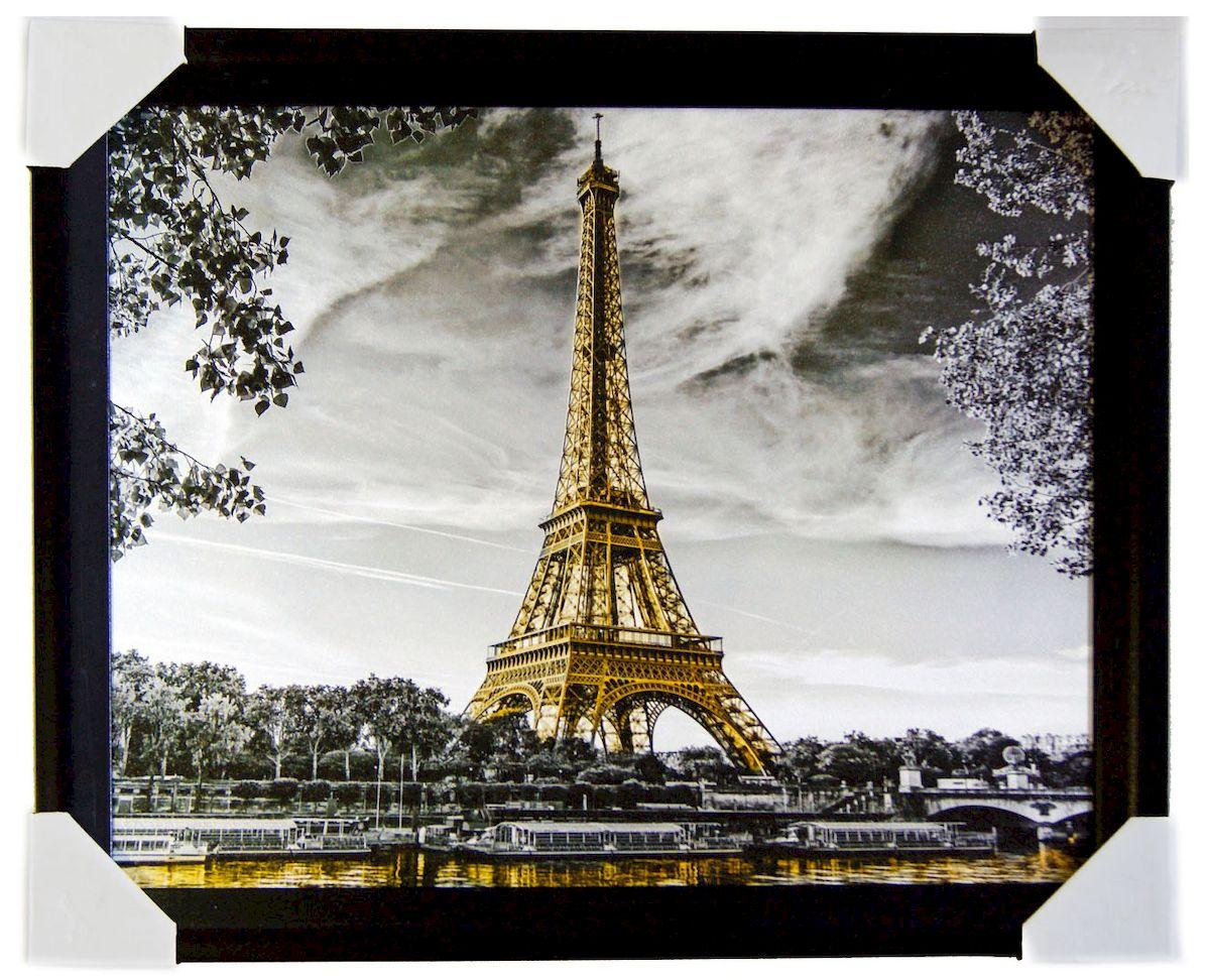 Картина в раме Proffi Home Эйфелева башня, 40 х 50 смВ754Картина Proffi Home поможет украсить интерьер. Картина оформлена в красивую деревянную рамку черного цвета. Фотопечать на бумажном постере с тиснением. Металлические петли, винты для подвешивания картины в комплекте. Размер картины: 40 х 50 см.