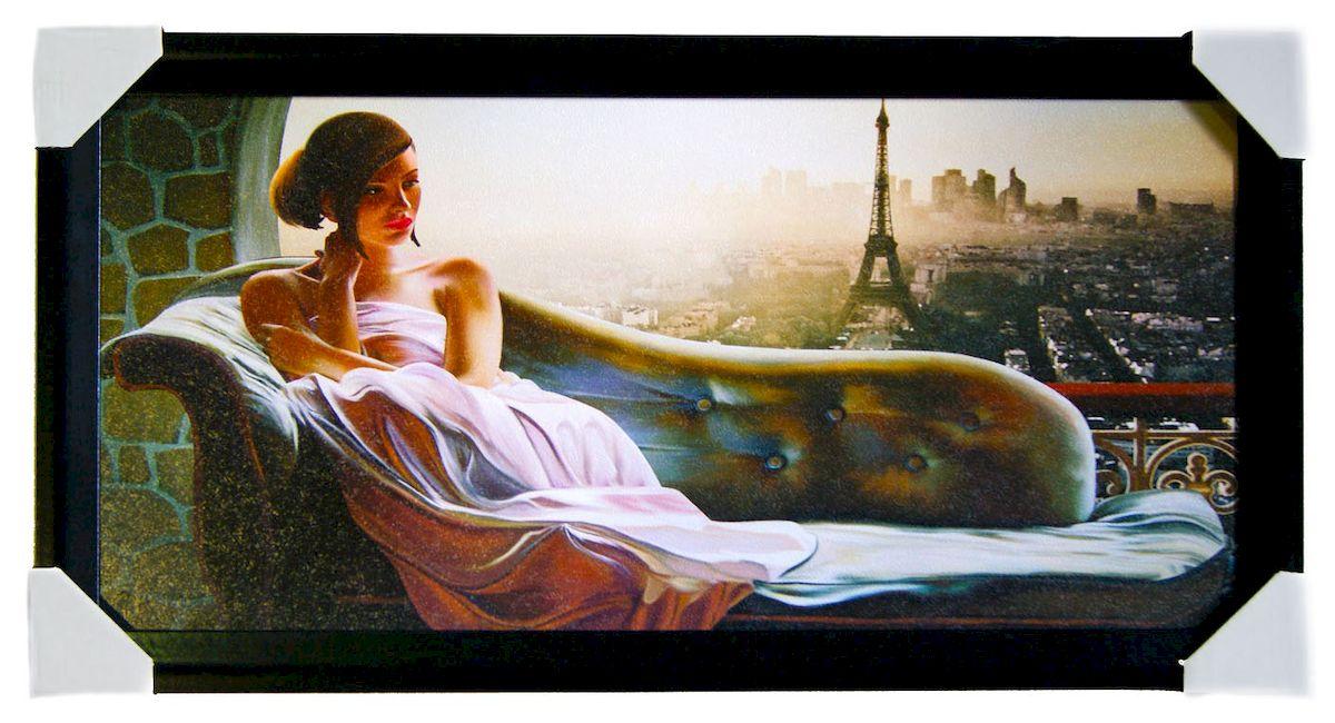 Картина в раме Proffi Home Вечер в Париже, 33 х 70 смВ951Картина Proffi Home поможет украсить интерьер. Картина оформлена в красивую деревянную рамку черного цвета. Фотопечать на бумажном постере с тиснением. Металлические петли, винты для подвешивания картины в комплекте. Размер картины: 33 х 70 см.