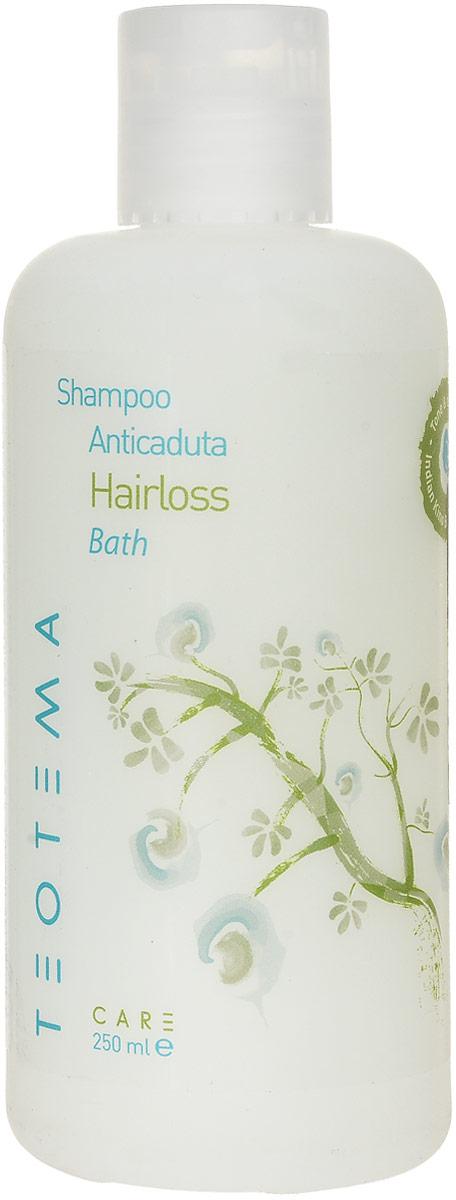 Teotema Шампунь против выпадения волос 250 млTEOTREAT14Особая формула двойного действия бережно очищает волосы, препятствует выпадению волос, стимулирует кровообращение. Основные компоненты: мать-и-мачехацелебное растение с вяжущими, успокаивающими и смягчающими свойствами; тысячелистник обыкновенный - ценится высоко из-за тонизирующих и стимулирующих качеств. Благодаря экстракту тысячелистника шампунь оказывает укрепляющее воздействие на корни волос.