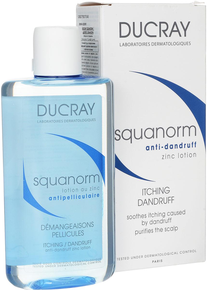 Ducray Лосьон от перхоти с цинком Squanorm, 200 млC27714Состояние десквамации кожи головы часто сопровождается зудом и покраснением. Входящий в состав лосьона активный запатентованный комплекс Келюамид обладает специфическим противозудным действием, направленным на ликвидацию как сухой, так и жирной перхоти. Сульфат цинка успокаивает успокаивает раздражения и восстанавливает баланс кожи головы. Регулярное применение лосьона устраняет зуд, уменьшает покраснение, раздражение кожи.