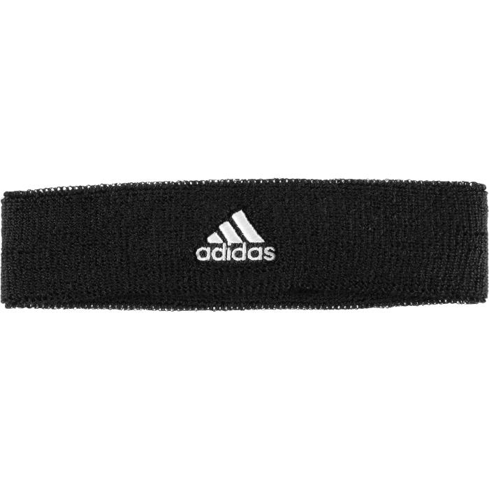 Повязка на голову для тенниса Adidas TEN Headband, цвет: черный. S22008. Размер 54/55
