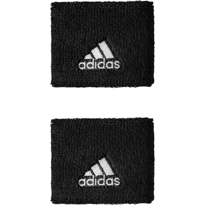 Напульсники Adidas TEN WB S, цвет: черный, 2 шт. S22003S22003Напульсник Adidas Ten WB S из эластичного текстиля, хорошо впитывающего влагу, с контрастным логотипом бренда.