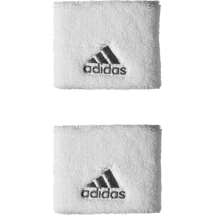 Напульсники Adidas TEN WB S, цвет: белый, 2 шт. S21998S21998Напульсник Adidas Ten WB S из эластичного текстиля, хорошо впитывающего влагу, с контрастным логотипом бренда.