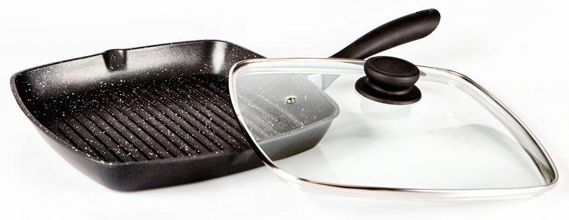 Сковорода-гриль Hoffmann, цвет: серебристый, черный, диаметр 24 см. НМ 8824НМ 8824