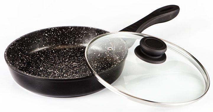 Сковорода Hoffmann, цвет: черный, диаметр 22 см. НМ 9822НМ 9822