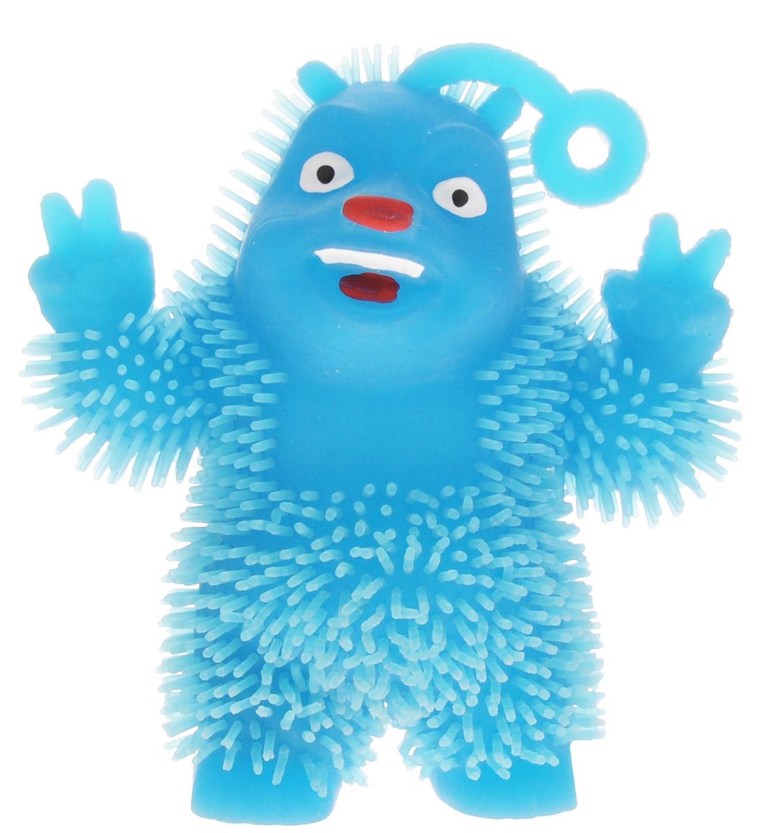 1TOY Игрушка-антистресс Ё-Ёжик Медвежонок-хиппи цвет голубой