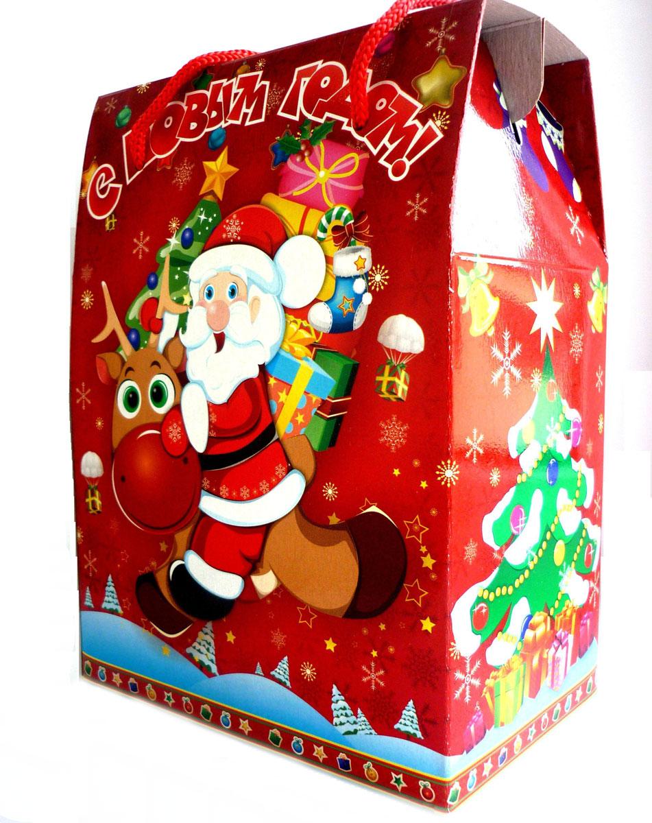 Новогодний сладкий подарок Веселье, 700 г16449Приятный и запоминающийся новогодний подарок, который наверняка порадует любого, напоминая нам о детстве.