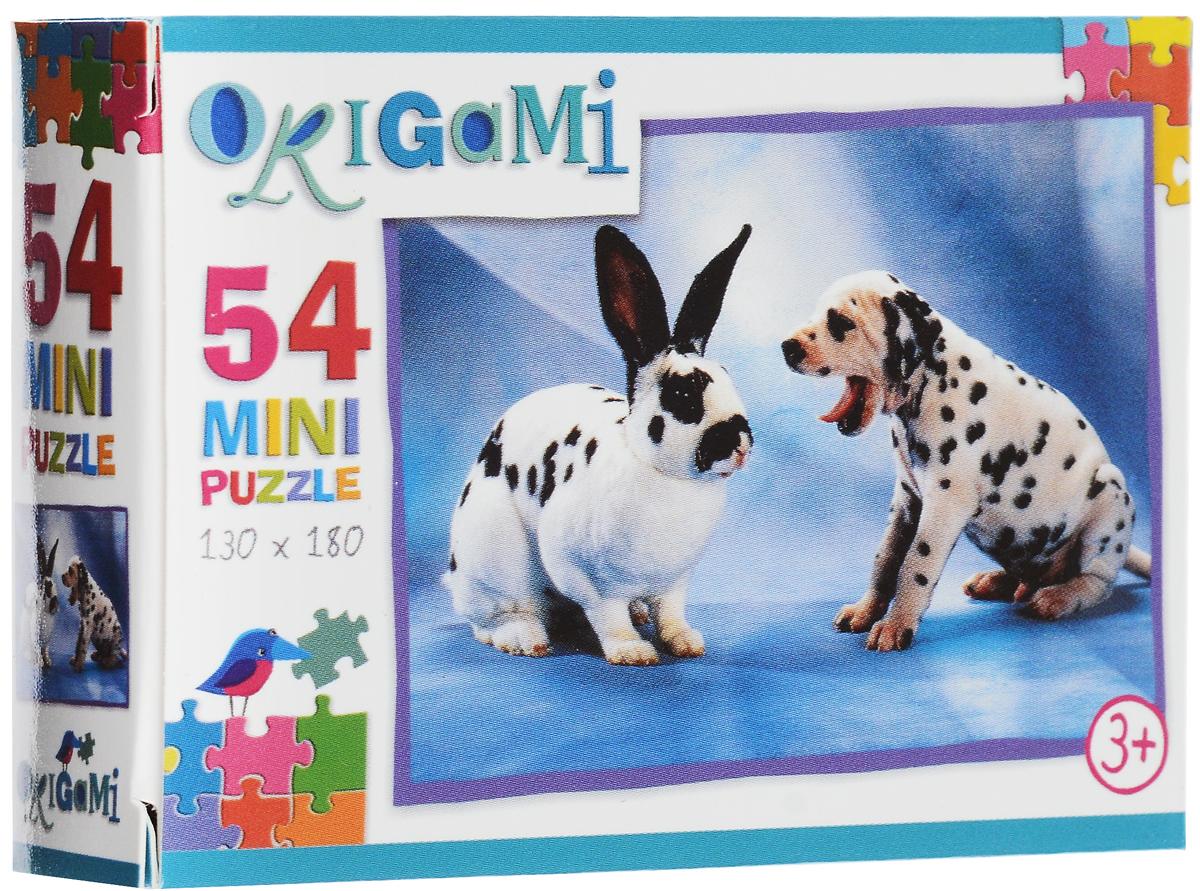 Оригами Пазл для малышей Кролик и щенок