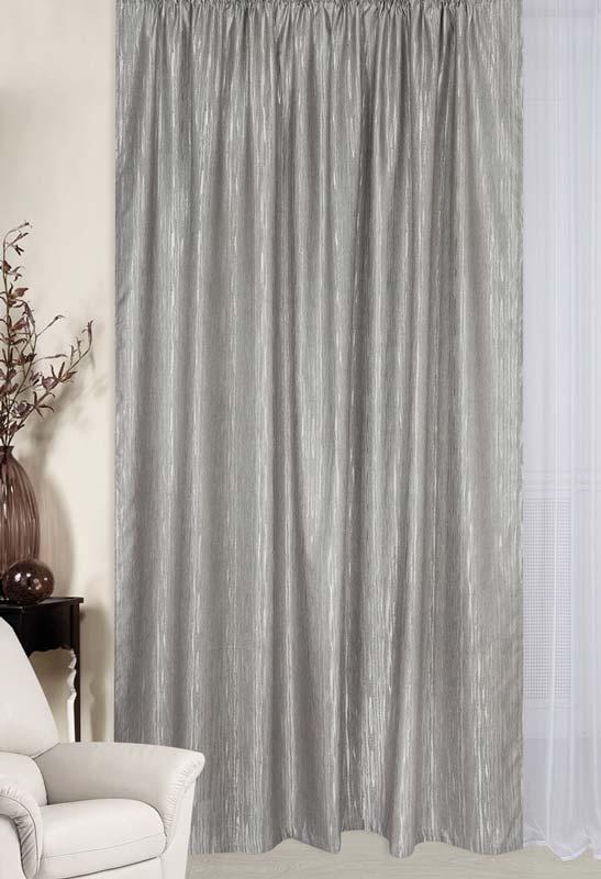 Гардина ТД Текстиль, цвет: серый, высота 260 см87652Штора с эффектом штукатурки впишется как в стиль хай тек так и в современную американскую классику.