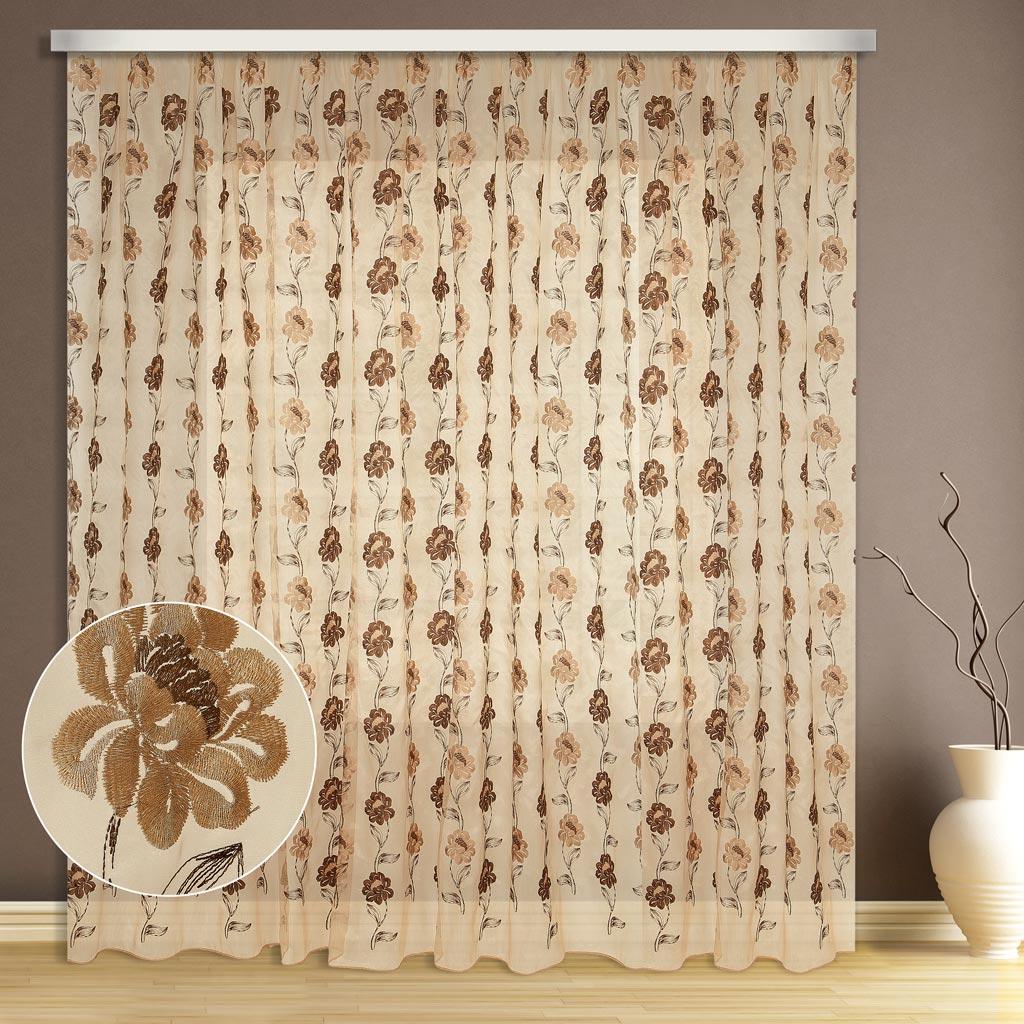 Тюль ТД Текстиль Вышивка, высота 270 см89543Шикарная тюль украсит любой интерьер и создаст уют в любое время года