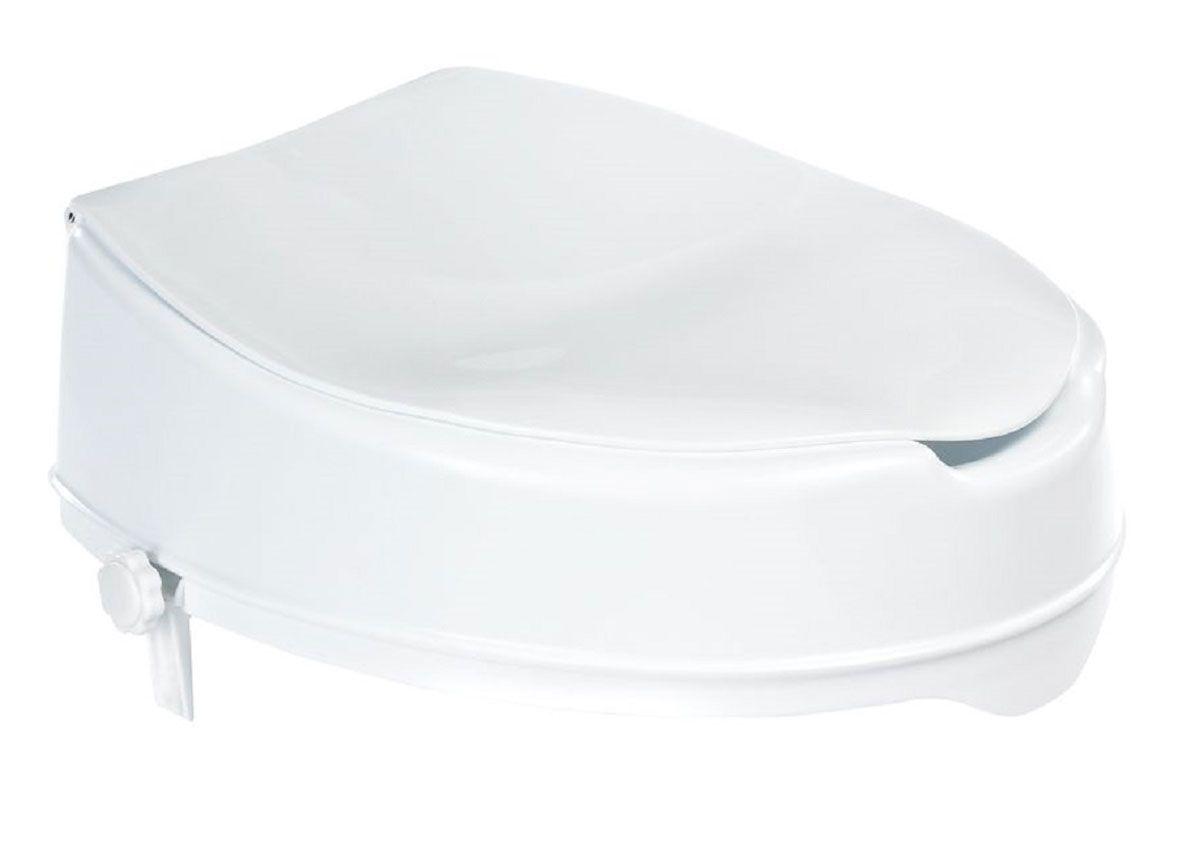Сиденье для унитаза Ridder, с крышкой, цвет: белый. А0071001А0071001Высококачественное немецкое сиденье для унитаза с крышкой выполнено из пластика, минимизирует напряжение при посадке и подъеме. Конструкция не требует монтажа. Предусмотрена фиксация для внутренней и внешней сторон унитаза. Полезная высота сиденья - 100 мм. Максимальная нагрузка на опору - 100 кг.