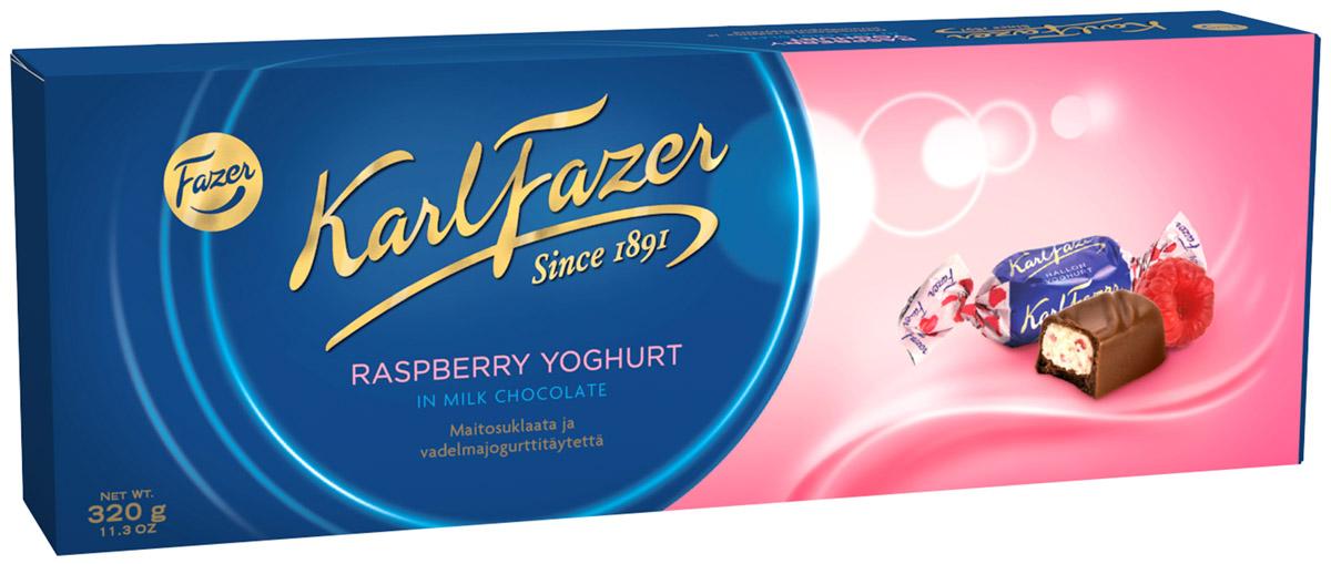 Karl Fazer Конфеты из молочного шоколада с малиновым йогуртом, 320 г5847