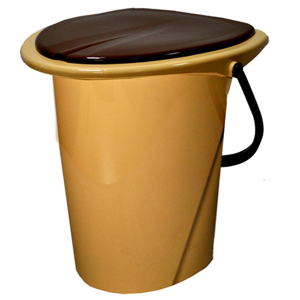 Ведро-туалет InGreen, цвет: бежевый, коричневый, 17 лING30001FБЖВедро-туалет InGreen выполнено из пластика. Это незаменимая вещь на даче, а также для пожилых людей и людей с ограниченными возможностями. Устойчивое и высокое ведро удобно в использовании. Ведро-туалет имеет эргономичное съемное сиденье - это позволит легко его мыть и сушить отдельно. Ведро снабжено крышкой, что препятствует распространению неприятных запахов. Прочный пластик выдержит даже людей с большим весом.