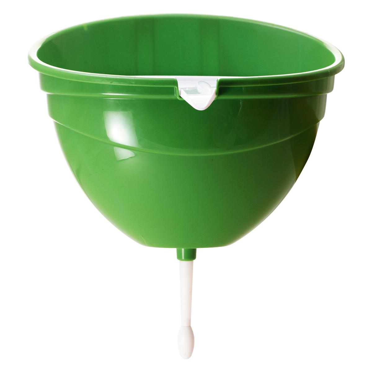 Рукомойник InGreen, цвет: салатовый, 4 лING30004FСЛСовременный и стильный рукомойник InGreen предназначен для дачи. Выполнен из высококачественного пластика и выдерживает отрицательные температуры (до -25 градусов), что позволяет ему спокойно пережидать зиму на улице. Крышка рукомойника расположена под небольшим углом и имеет специальный носик для слива дождевой воды, а также рифленую поверхность для удобного расположения мыла. Затвор плотно прилегает ко дну рукомойника, что предотвращает протекания воды. Размер рукомойника: 31,5 х 24,5 х 37 см. Объем рукомойника: 4 л.