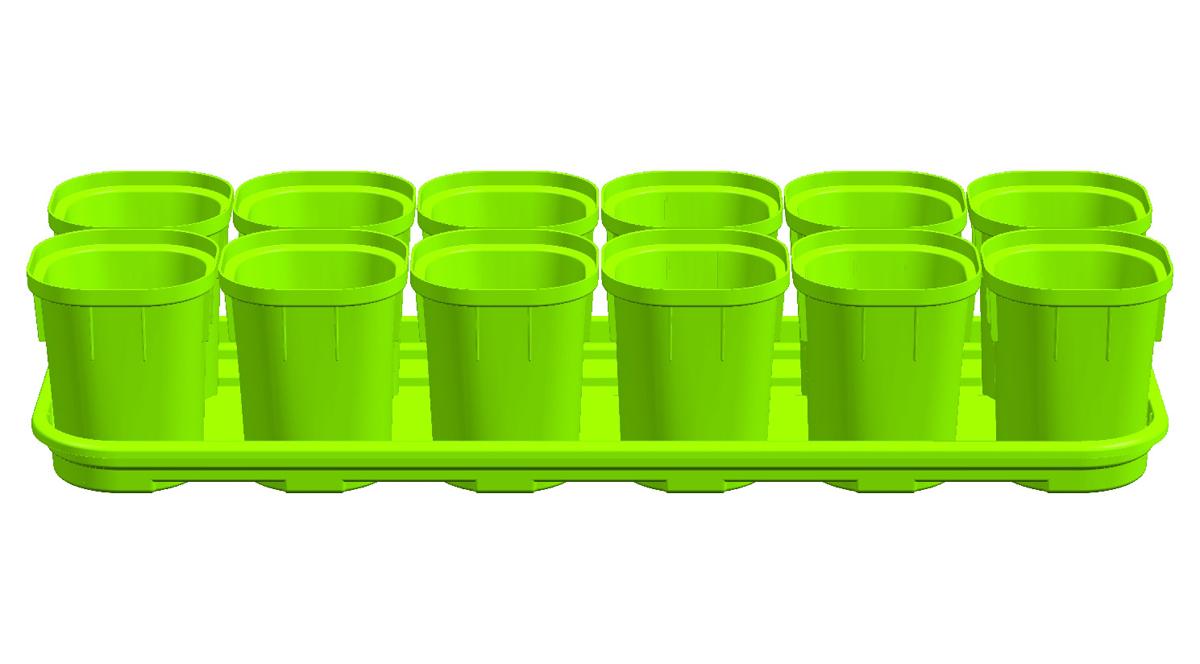 Набор горшков Ingreen для выращивания рассады, 12 шт х 200 млING6034СЛНабор горшков для выращивания рассады (12х200 мл) ТМ InGreen поможет развести великолепную коллекцию сельскохозяйственных культур и вырастить отличный урожай. Набор предназначен для выращивания саженцев, рассады, цветов и других растений. Горшки оснащены небольшими дренажными отверстиями, которые позволяют содержать грунт в хорошем состоянии, что благоприятно влияет на рост растений. Удобное, вытаскиваемое дно горшков способствует бережной пересадке. Входящий в набор поддон поможет наилучшим образом организовать место для рассады, а также избежать протечек и загрязнения поверхности. Такие горшки обеспечат постоянный урожай в течение круглого года.