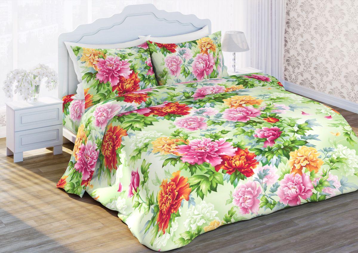 Комплект белья Любимый дом Пион, 1,5-спальный, наволочки 70x70. 351475351475
