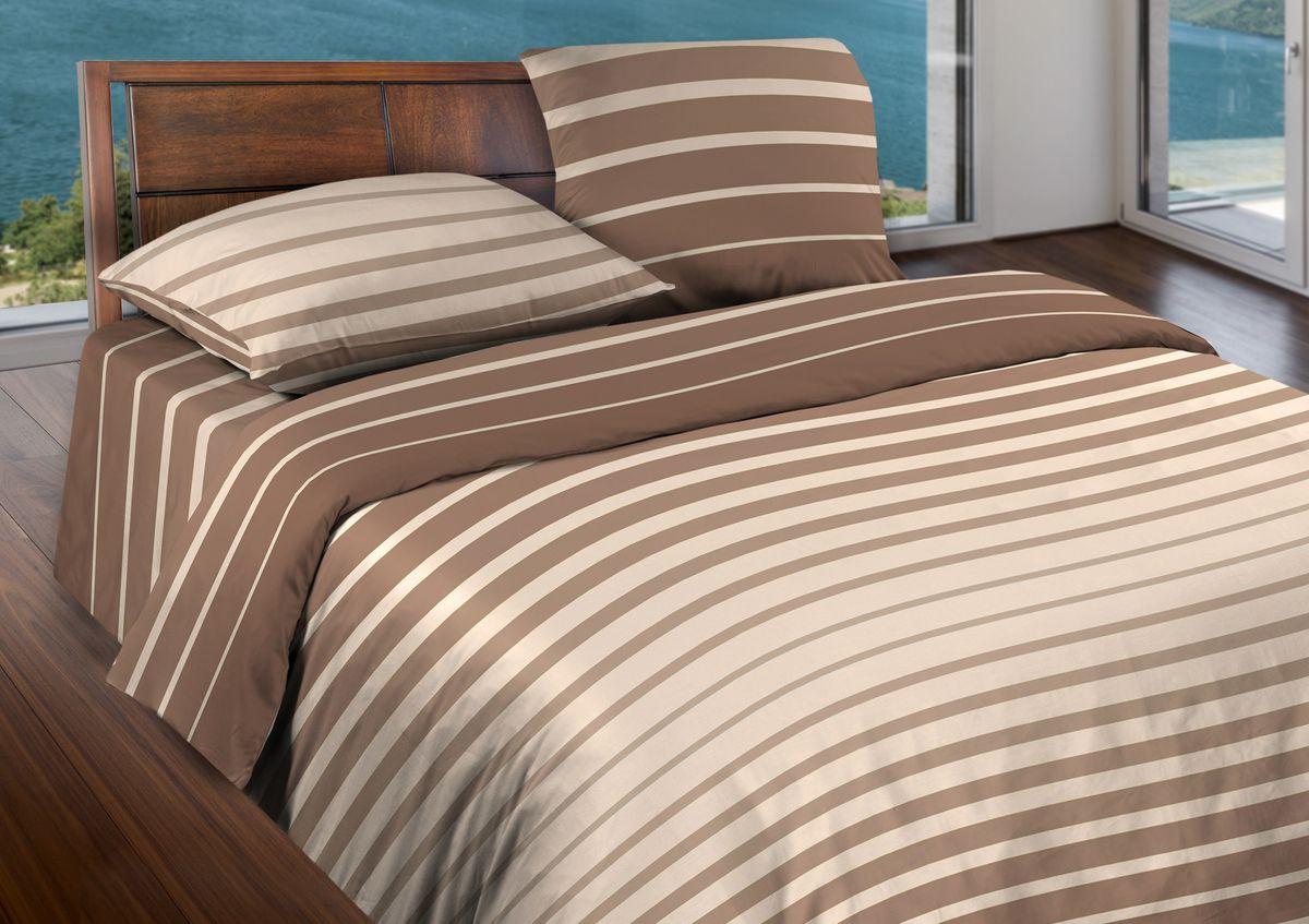 Комплект белья Wenge Stripe, 2-спальный, наволочки 70x70, цвет: коричневый361838Бязевое постельное белье состоит из 100% хлопка самого простого полотняного переплетения из достаточно толстых, но мягких нитей. Стоит постельное белье из этой ткани не намного дороже поликоттона или полиэфира, но приятней на ощупь и лучше пропускают воздух. Благодаря современным технологиям окраски, простыни не теряют свой цвет даже после множества стирок. По своим свойствам бязь уступает сатину, что окупается низкой стоимостью и неприхотливостью в уходе.