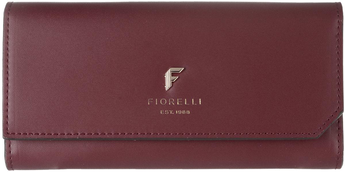 Кошелек женский Fiorelli, цвет: темно-красный. 0831 FS0831 FS RedСовременный кошелек оригинального дизайна Fiorelli изготовлен из эко-кожи и оформлен металлической пластиной с логотипом бренда. Внутри два отделения для купюр, одиннадцать карманов для карт и один большой карман для монет, который застегивается на молнию. Так же есть четыре скрытых кармана и один кармашек с прозрачным окошком. Снаружи на задней стенке прорезной карман на застежке-молнии. Закрывается кошелек на застежку-кнопку. Такой кошелек станет замечательным подарком человеку, ценящему качественные и практичные вещи.