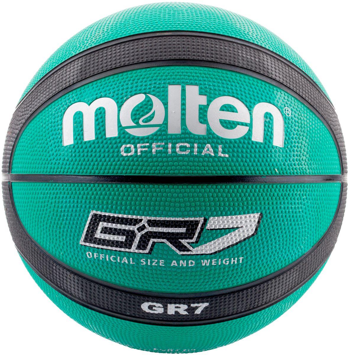 Мяч баскетбольный Molten. Размер 7. BGR7-GKBGR7-GKМяч баскетбольный для игр на площадках. Клееный тип соединения панелей, нейлоновая обмотка камеры, изготовлен из износостойкой резины.