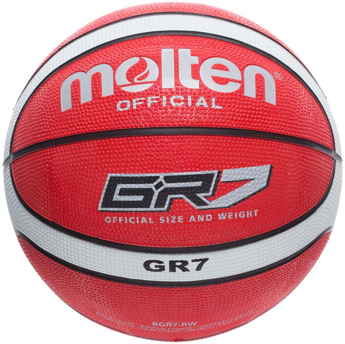Мяч баскетбольный Molten. Размер 7. BGR7-RWBGR7-RWБаскетбольный мяч для игры в зале и на улице. 12-панельный дизайн.