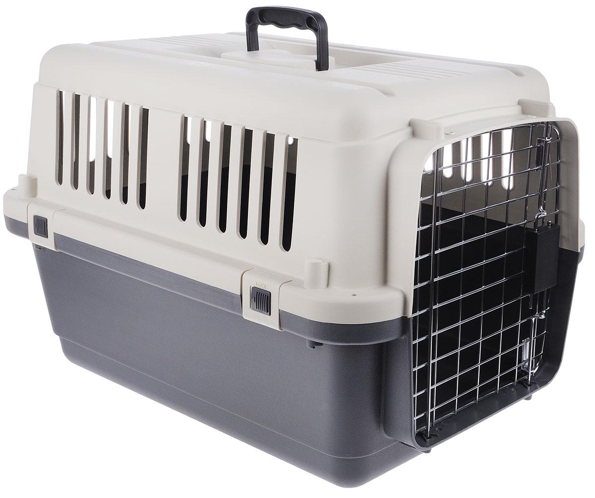 Переноска для животных Triol, 60,7 х 40 х 40,5 см5103Переноска Triol изготовлена из пластика и предназначена для перевозки животных на небольшие или дальние расстояния. Металлическая дверь оснащена специальным замком-защелкой, который препятствует случайному открытию двери в дороге. Переноска соответствует стандарту IATA - международной ассоциации авиа-перевозчиков и может использоваться для транспортировки животных в самолете. IATA - стандарт для международных перевозок животных в автомобиле, поезде, самолете, на корабле. Переноска снабжена надежными, скрепляющими корпус винтами и защелками, запираемой металлической дверцей, крепкой и прочной пластиковой ручкой, вентиляционными решетками и поилкой. Размер переноски: 60,7 х 40 х 40,5 см. Размер поилки: 11 х 9 х 4 см.