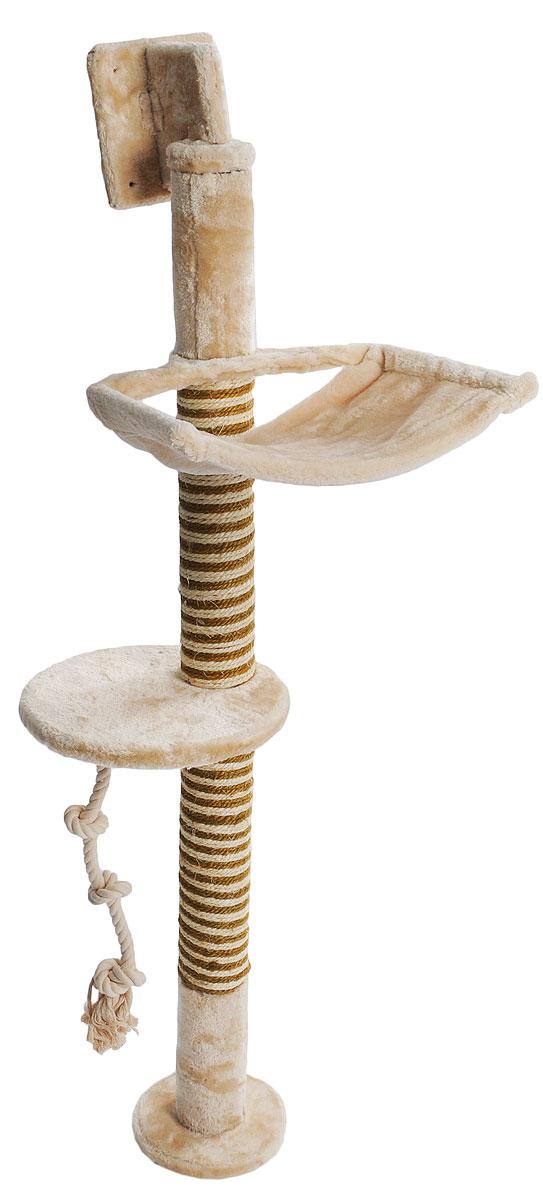 Игровой комплекс для кошек Triol, 39 х 38 х 133 смСТ-44Игровой комплекс для кошек Triol выполнен из высококачественного ДСП и обтянут искусственным мехом. Изделие предназначено для кошек. Точить когти кошка сможет точить о столбики, обтянутые сизалем. Ваш домашний питомец будет с удовольствием точить когти о столбики, выполненные из сизаля. А отдохнуть он сможет либо на полках, либо на гамаке. Общий размер: 39 х 38 х 133 см. Диаметр полки: 29 см. Размер гамака: 39 х 38 см.
