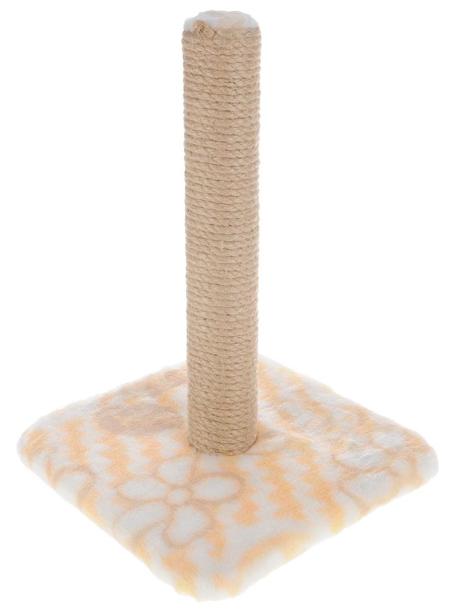 Когтеточка Меридиан, на подставке, цвет: желтый, белый, бежевый, высота 42 смК032 ЦвКогтеточка Меридиан поможет сохранить мебель и ковры в доме от когтей вашего любимца, стремящегося удовлетворить свою естественную потребность точить когти. Когтеточка изготовлена из дерева, искусственного меха и джута. Товар продуман в мельчайших деталях и, несомненно, понравится вашей кошке. Всем кошкам необходимо стачивать когти. Когтеточка - один из самых необходимых аксессуаров для кошки. Для приучения к когтеточке можно натереть ее сухой валерьянкой или кошачьей мятой. Когтеточка поможет вашему любимцу стачивать когти и при этом не портить вашу мебель. Размер основания: 30 х 30 см. Высота когтеточки: 42 см.