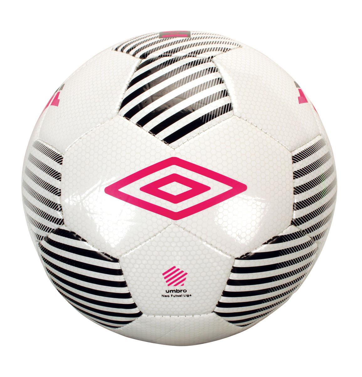 Мяч минифутбольный Umbro Neo Futsal Liga, цвет: белый, черный, розовый. Размер 4. 20554U20554U