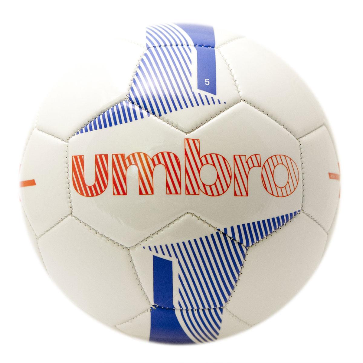 Мяч футбольный Umbro Veloce Supporter Ball, цвет: белый, синий, красный. Размер 5. 20657U20657U