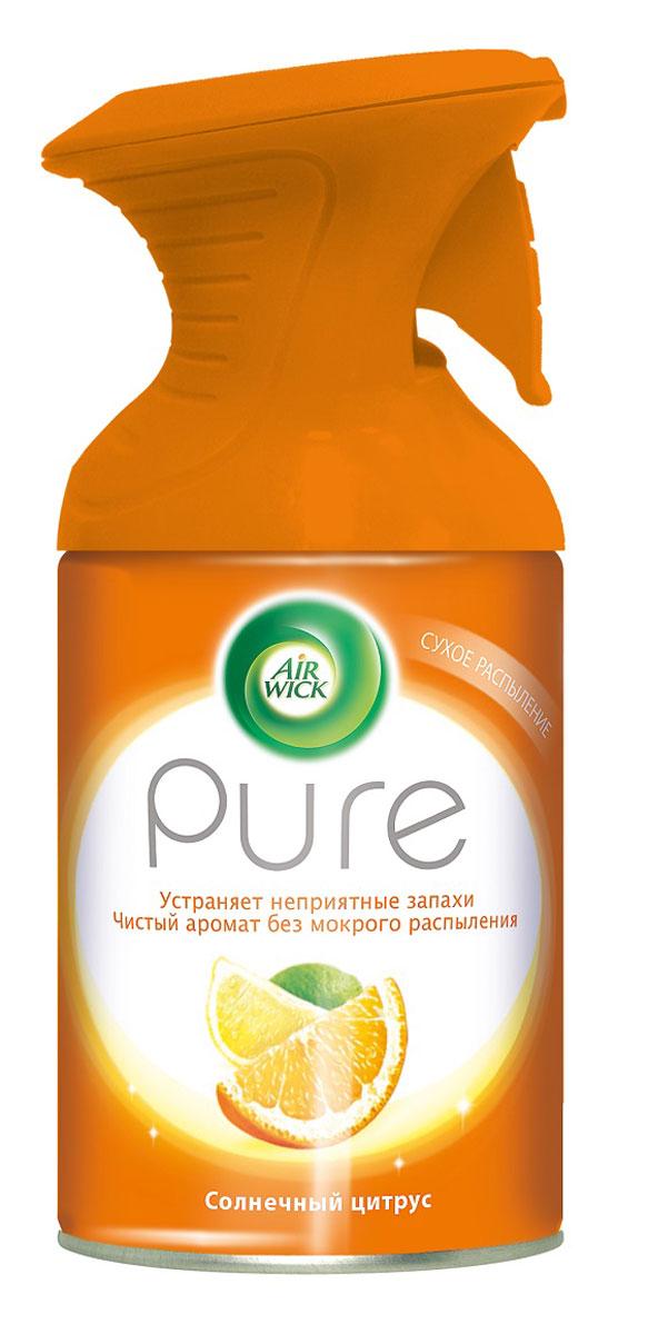 Освежитель воздуха AirWick Pure, солнечный цитрус, 250 мл7889Новый освежитель воздуха Air Wick Pure не содержит воды и эффективно устраняет неприятные запахи без мокрого распыления. Используйте освежители воздуха Air Wick Pure в каждой комнате, наполняя ваш дом свежими и приятными ароматами. Инструкция по использованию: держа баллон регулярно, нажать на курок до упора и распылить аэрозоль от себя к центру комнаты. Внимание! Прочитать внимательно этикетку перед использованием. Хранить в недоступном для детей и животных месте. Использовать с осторожностью при повышенной чувствительности к парфюмерным отдушкам. Освежители воздуха не являются заменой надлежащих мер гигиены. Использовать только в хорошо проветриваемых помещениях. Меры предосторожности: баллон находится под давлением. При нагревании возможен разрыв баллона. Предохранять от воздействия прямых солнечных лучей и нагревания выше 50 градусов. Огнеопасно! Не распылять вблизи открытого огня, раскаленных предметов, тепла или включенного электрооборудования. Не курить. Срок годности: 24...