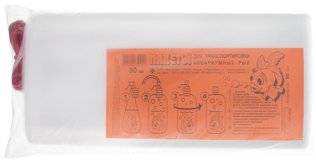 Пакеты для транспортировки аквариумных рыбок Аква Меню, с резинками, ширина 30 см, 50 шт00000000718Аква Меню - специальные пакеты для перевозки рыбок. Для транспортировки рыб на дальние расстояния требуется специальное приспособление и чаще всего им являются специально созданные для этих целей транспортировочные пакеты. Ни в коем случае не сажайте рыб в обычные пакеты! Прежде чем запустить рыб в пакет, убедитесь, что вода нужной температуры. Вода обязательно должна быть аквариумной. Если вам необходимо перевозить рыб на дальние расстояния, то помните, что рыба должна быть некормленой сутки. Можете так же закинуть кислородную таблетку.