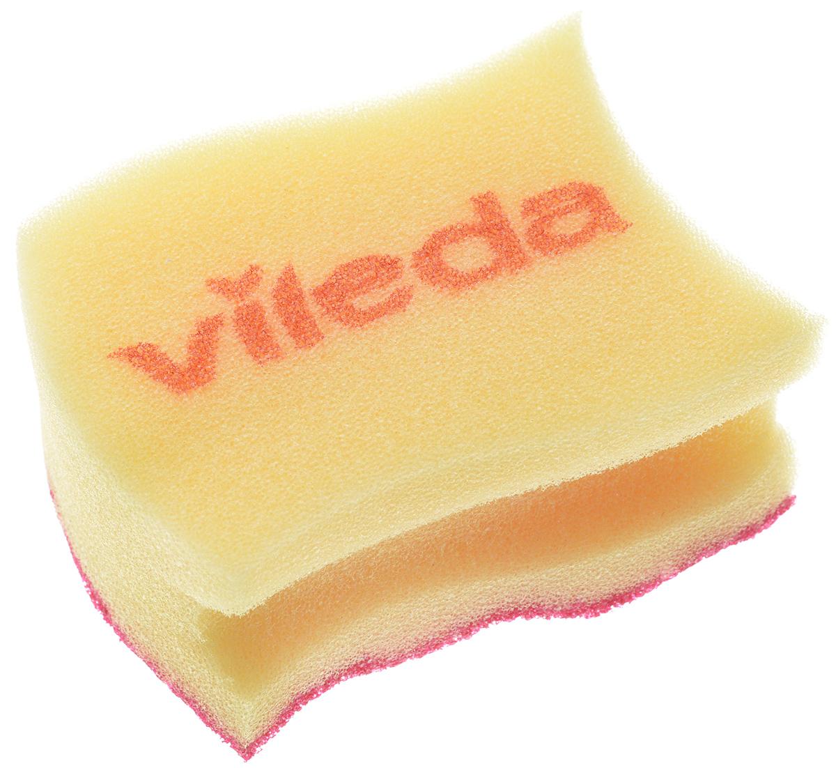 Губка для мытья посуды Vileda Pure Colors, цвет: желтый, бордовый, 9,5 х 6,2 х 4,7 см529037_желтый, бордовыйГубка для мытья посуды Vileda Pure Colors предназначена для очистки деликатных поверхностей. Удаляет даже трудные загрязнения, не царапая поверхность. Удобна в использовании за счет специальных пазов для пальцев. Губка с ярким дизайном станет украшением любой кухни и порадует хозяйку. Размер губки: 9,5 х 6,2 х 4,7 см.