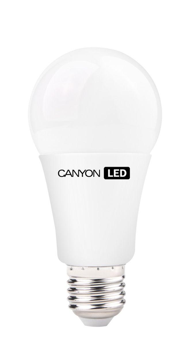 Набор светодиодных ламп Canyon LED AE27FR12W230VW, 10 шт.10_AE27FR12W230VWCANYON LED A60 E27 12W 220V 2700K, набор 10шт. Лампочка традиционной формы, излучает мягкий рассеянный свет. Имеет уникальный LED модуль COB ICE CANYON, позволяющий избежать чрезмерного нагревания. Предназначена для установки в светильниках с патроном E27. Доступна с матовой колбой. Чрезвычайно низкое энергопотребление позволяет сэкономить до 90% энергии в сравнении с традиционными лампами накаливания